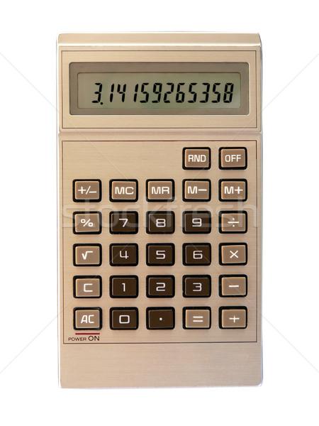 Сток-фото: изолированный · кармана · калькулятор · числа · pi · белый