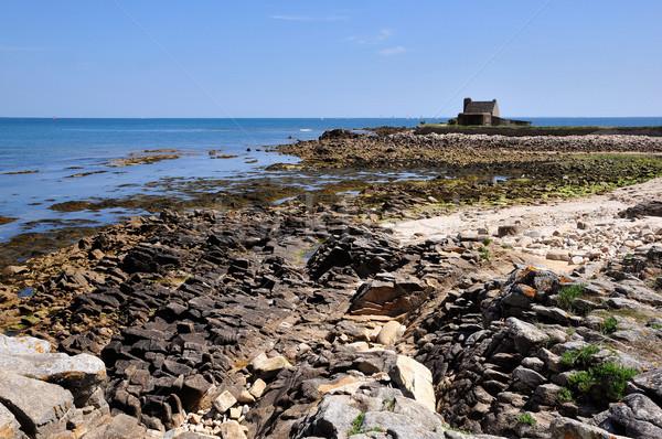 Rocky coast at La Trinite sur Mer in France Stock photo © Musat