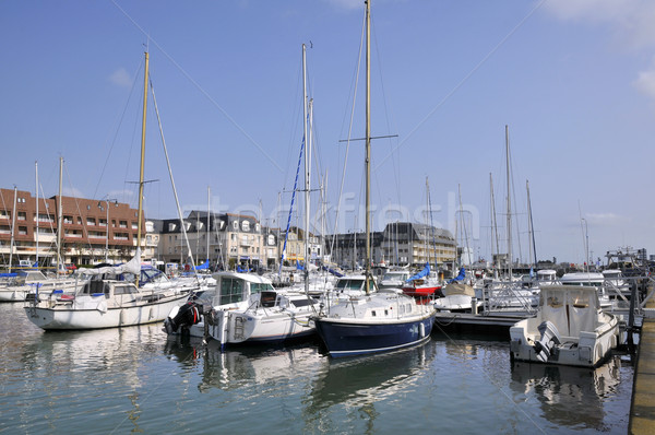 Port of Courseulles sur Mer in france Stock photo © Musat