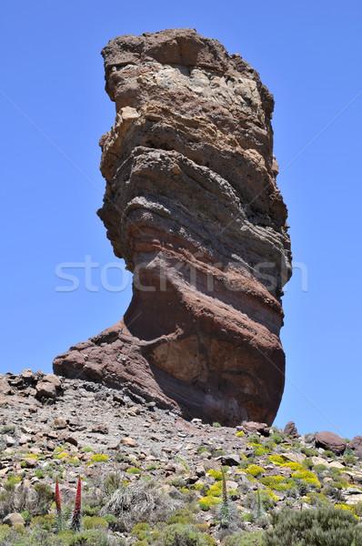 Grand Rock canari île célèbre lave Photo stock © Musat