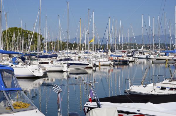 Haven Frankrijk jachthaven meer afdeling water Stockfoto © Musat