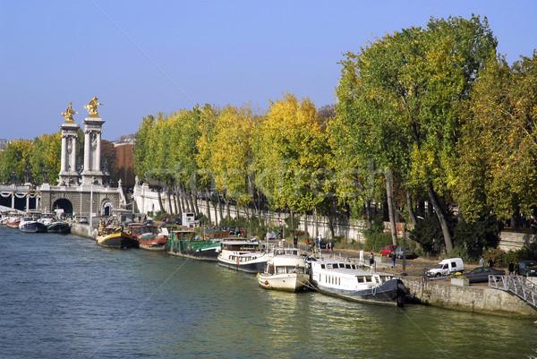 Quai Paris célèbre pont ciel eau Photo stock © Musat