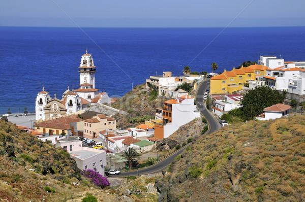 Kasaba tenerife görmek ünlü bazilika Stok fotoğraf © Musat