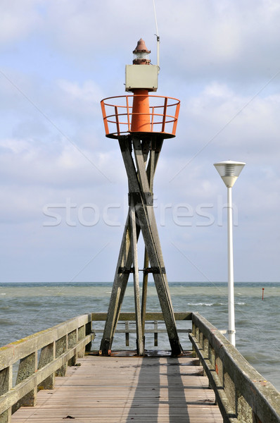 Lighthouse port of Courseulles in France Stock photo © Musat