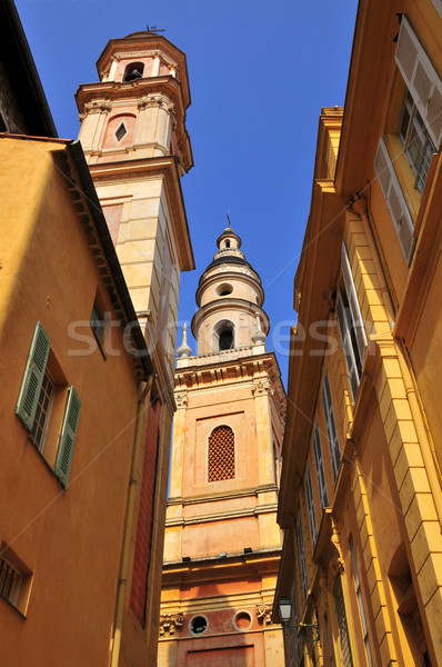 Basilica Saint Michel Archange at Menton in France Stock photo © Musat