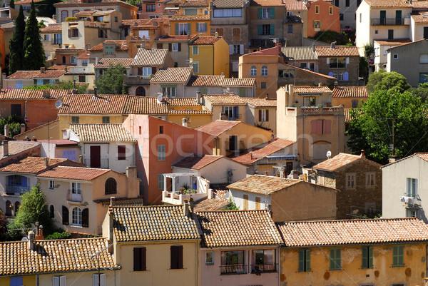 Village France maisons toits région Photo stock © Musat