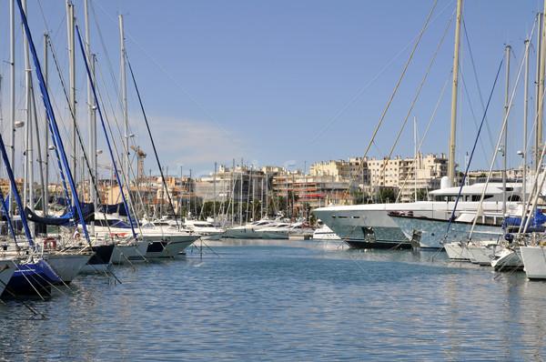 Haven Frankrijk middellandse zee zee Blauw boot Stockfoto © Musat