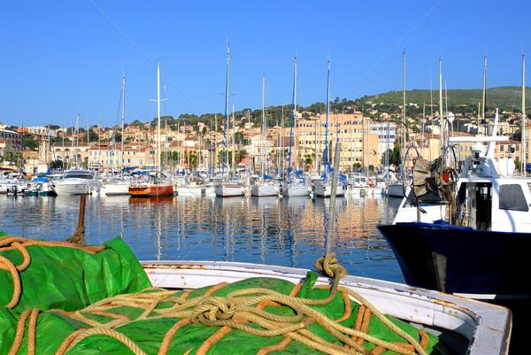 Foto d'archivio: Porta · la · Francia · barche · primo · piano · verde