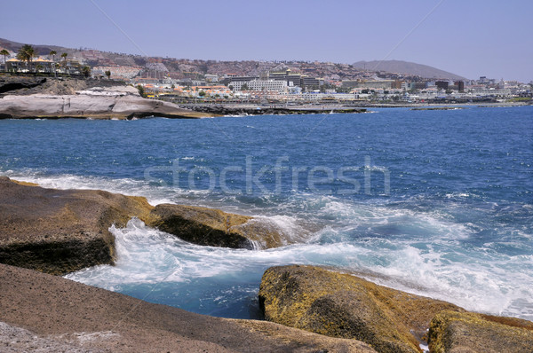 Sahil tenerife güneybatı İspanyolca Bina Stok fotoğraf © Musat