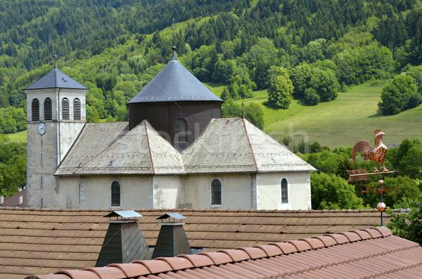 église français alpes village toits Photo stock © Musat