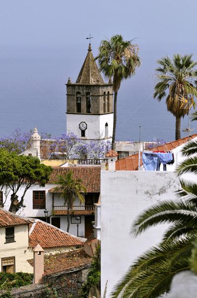 Kilise tenerife kule çan kuzeybatı İspanyolca Stok fotoğraf © Musat