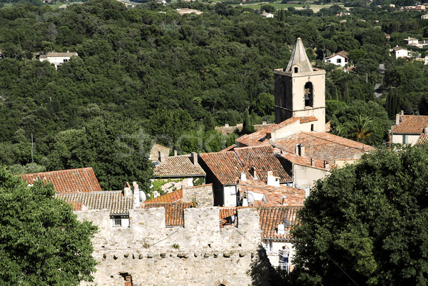 Village of Grimaud in France Stock photo © Musat
