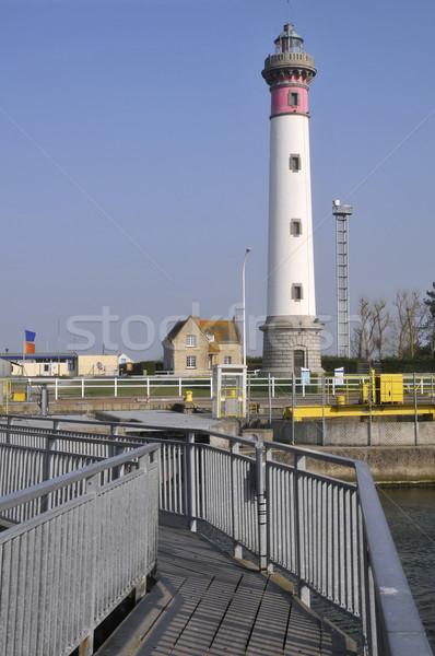 Vuurtoren Frankrijk voetbrug voorgrond afdeling regio Stockfoto © Musat