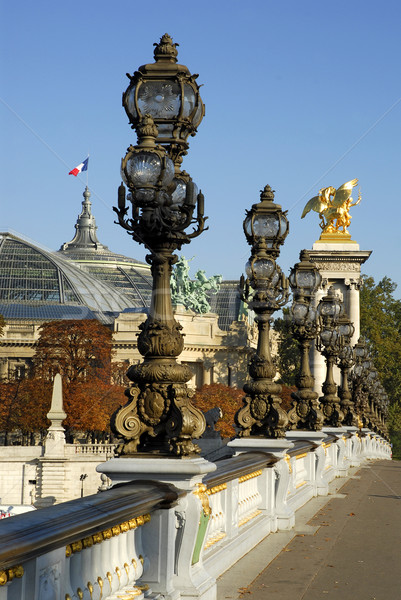 Brug Parijs rivier kunst boot architectuur Stockfoto © Musat