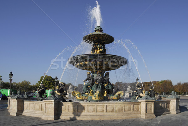 Art fountain on the Place of Concorde in Paris Stock photo © Musat