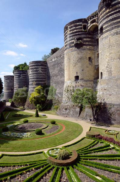 Kastély Franciaország tornyok kert részleg western Stock fotó © Musat