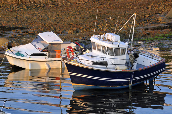 Two boats in a port of Brittany Stock photo © Musat