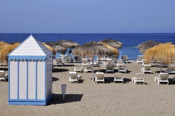 Tengerpart fülke Tenerife kék fehér spanyol Stock fotó © Musat