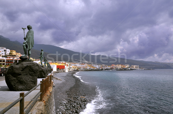 Town and beach of Candelaria at Tenerife Stock photo © Musat