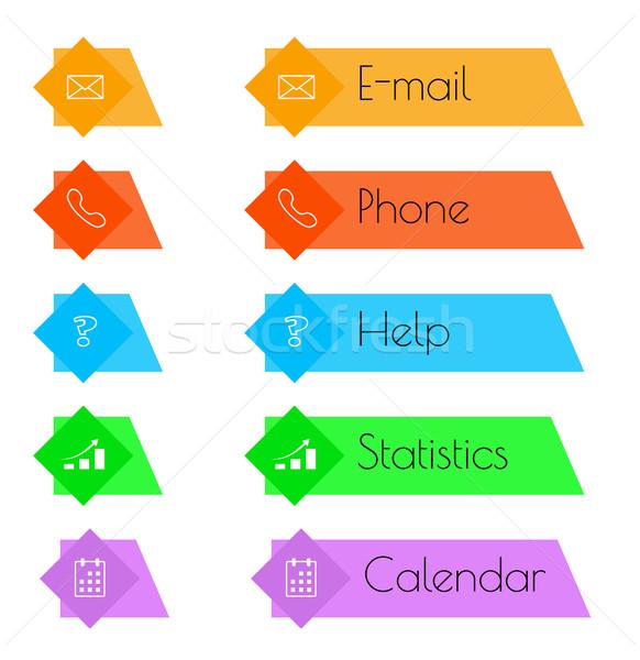 Düğme renk iş bilgisayar kalp dizayn Stok fotoğraf © muuraa