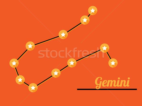 constellation gemini Stock photo © muuraa