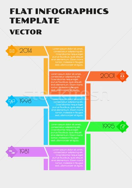 белый вектора Инфографика цвета Элементы бизнеса Сток-фото © muuraa