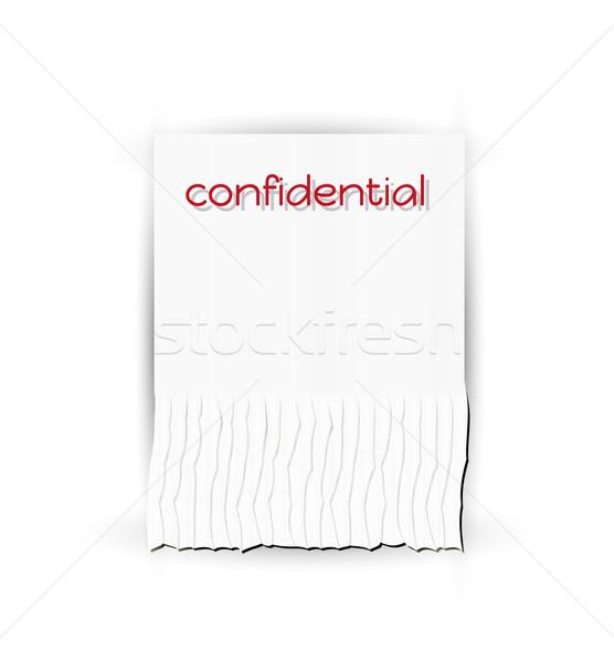 Confidencial papel texto vector negocios Foto stock © muuraa