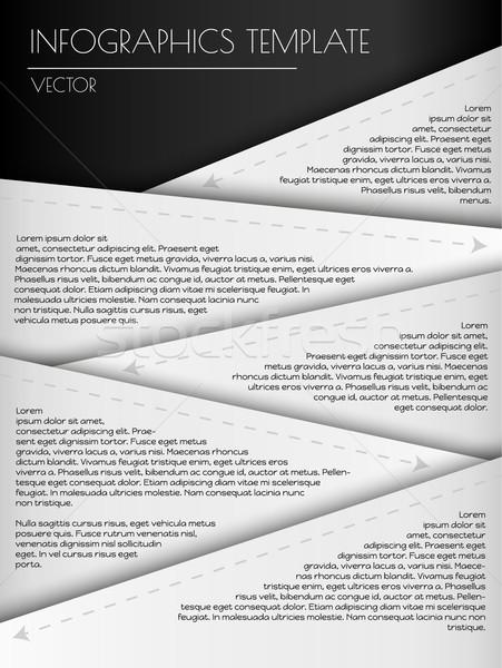 Branco vetor infográficos elementos negócio Foto stock © muuraa