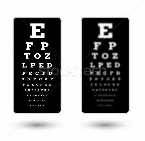 sharp and unsharp black snellen chart Stock photo © muuraa