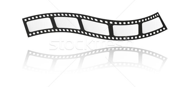 Filmstrip beş kareler yansıma beyaz film Stok fotoğraf © muuraa