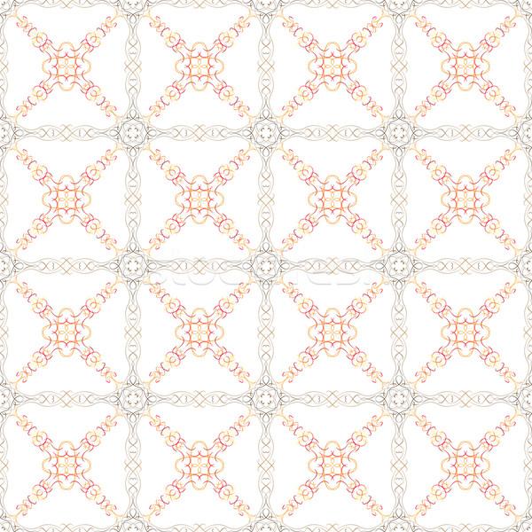 Marrom laranja elementos vetor textura Foto stock © muuraa
