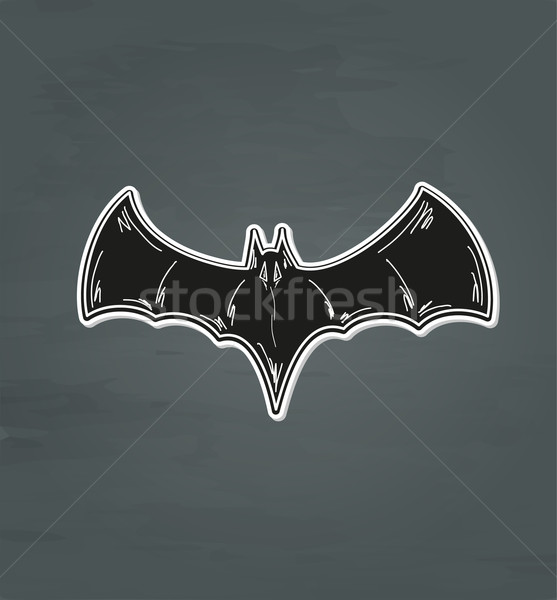 Preto bat esboço escuro vetor céu Foto stock © muuraa