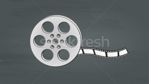 Filmstrip buio vettore abstract film Foto d'archivio © muuraa