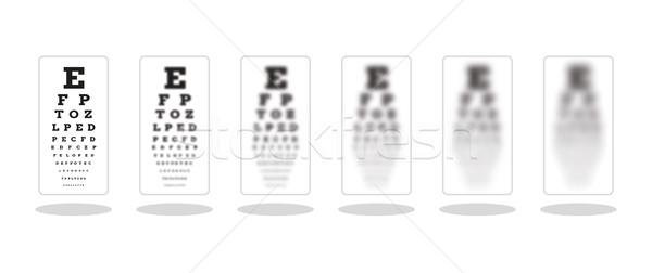 Fuerte cinco tabla símbolo diferente vista Foto stock © muuraa