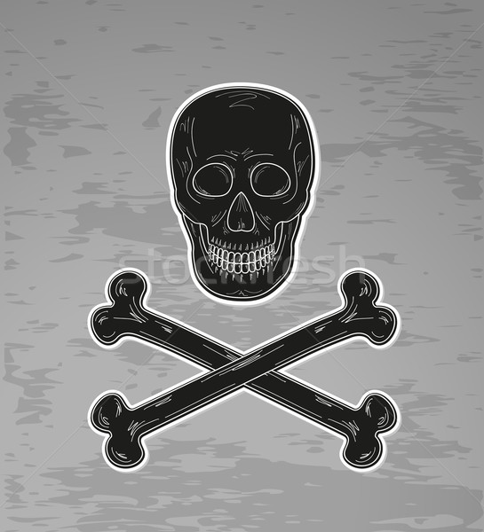 Nero cranio ossa buio vettore sorriso Foto d'archivio © muuraa