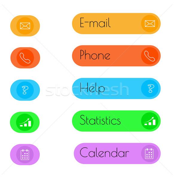 Stockfoto: Knop · kleur · business · computer · hart · ontwerp