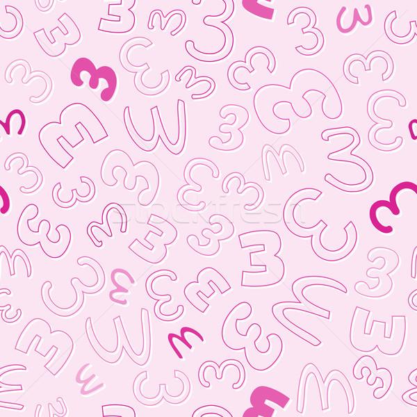 числа три розовый вектора моде Сток-фото © muuraa