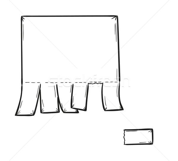 чистый лист бумаги эскиз изолированный стороны карандашом Сток-фото © muuraa