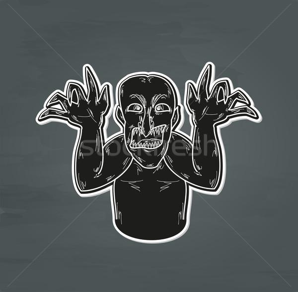 Vecchio brutto uomo nero orribile Foto d'archivio © muuraa