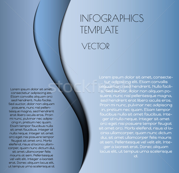 Mavi infographics vektör örnek metin Stok fotoğraf © muuraa