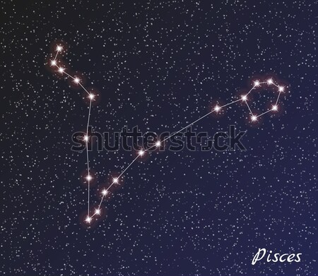 Stock photo: constellation pisces