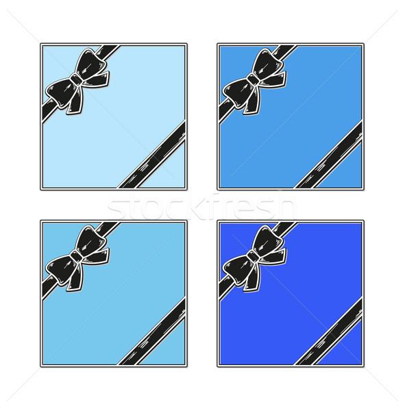 ギフト ギフトカード 青 リボン 白 ビジネス ストックフォト © muuraa