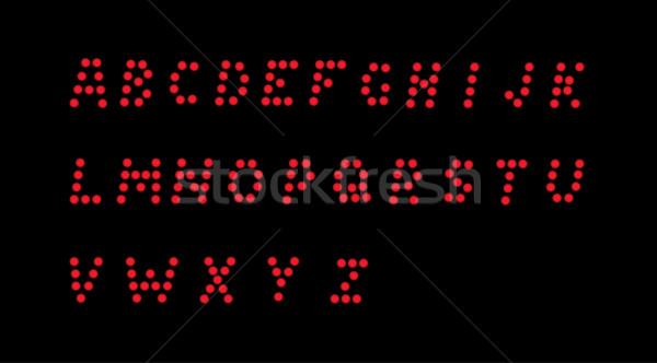 Pontilhado alfabeto vetor vermelho preto escolas Foto stock © muuraa