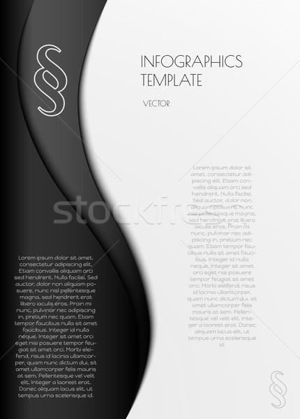Infografica comma simbolo vettore bianco nero business Foto d'archivio © muuraa