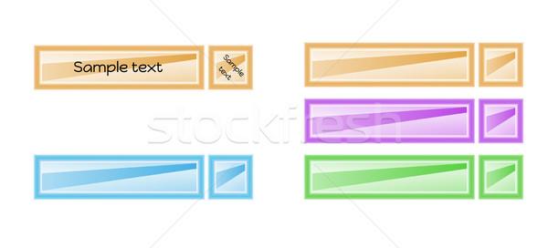 Colore etichette quattro diverso vettore isolato Foto d'archivio © muuraa