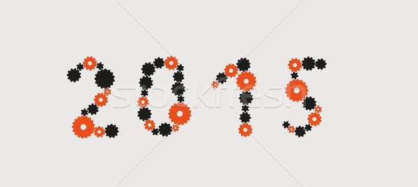 Yıl 2015 örnek diş tekerlekler vektör Stok fotoğraf © muuraa