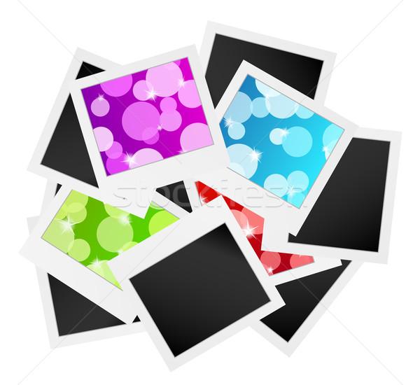Photo frame raccolta bolle foto fotogrammi design Foto d'archivio © muuraa