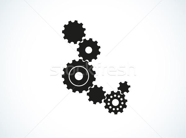 Mavi beyaz eğim vektör çalışmak Stok fotoğraf © muuraa