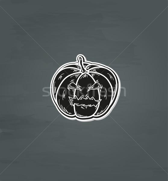 черный глазах рот графических осень Сток-фото © muuraa