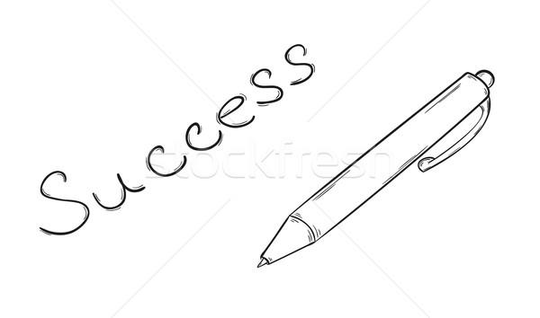 пер текста эскиз успех изолированный дизайна Сток-фото © muuraa
